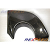 Rexpeed V-Style Carbon Fiber Exhaust Heat Shield - JDM EVO 9
