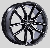 BBS XA 19x8.5 5x114.3 ET45 Satin Black Diamond Cut Face Wheels -82mm PFS/Clip Required