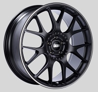 BBS CH-R 20x8.5 5x114.3 ET38 Satin Black Polished Rim Protector Wheels -82mm PFS/Clip Required