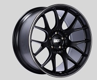 BBS CH-R 20x10.5 5x114.3 ET24 CB66 Satin Black Polished Rim Protector Wheels