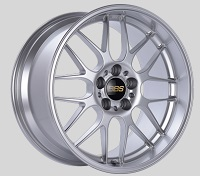 BBS RG-R 19x9.5 5x114.3 ET22 Sport Silver Polished Lip Wheels -82mm PFS/Clip Required