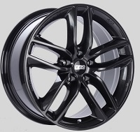 BBS SX 18x8 5x114.3 ET40 Crystal Black Wheels -82mm PFS/Clip Required