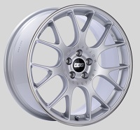 BBS CH-R 18x8 5x100 ET38 Brilliant Silver Polished Rim Protector Wheels -70mm PFS/Clip Required