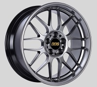 BBS RG-R 17x9.5 5x114.3 ET38 Diamond Black Wheels -82mm PFS/Clip Required