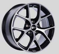 BBS SR 17x7.5 5x100 ET48 Satin Black Diamond Cut Face Wheels -70mm PFS/Clip Required
