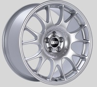 BBS CH 18x8.5 5x100 ET30 Diamond Silver Wheels -70mm PFS/Clip Required