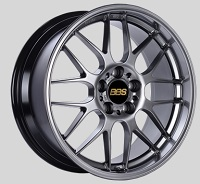 BBS RG-R 17x8.5 5x114.3 ET55 Diamond Black Wheels -82mm PFS/Clip Required