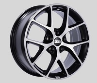 BBS SR 18x8 5x114.3 ET50 Satin Black Diamond Cut Face Wheels -82mm PFS/Clip Required