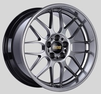 BBS RG-R 19x9.5 5x114.3 ET22 Diamond Black Wheels -82mm PFS/Clip Required