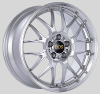 BBS RS-GT 20x8.5 5x114.3 ET43 Diamond Silver Center Diamond Cut Lip Wheels -82mm PFS/Clip Required