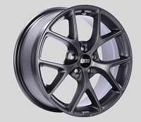 BBS SR 17x7.5 5x114.3 ET42 Satin Grey Wheels -82mm PFS/Clip Required