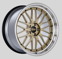 BBS LM 20x10.5 5x114.3 ET20 CB66 Gold Center Diamond Cut Lip Wheels