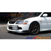 Rexpeed MR SE Carbon Fiber Front Lip Splitter - EVO 9