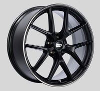 BBS CI-R 20x8.5 5x114.3 ET40 Satin Black Polished Rim Protector Wheels -82mm PFS/Clip Required