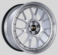 BBS LM-R 20x9.5 5x114.3 ET40 CB66 Diamond Silver Center Diamond Cut Lip Wheels