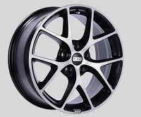 BBS SR 18x8 5x114.3 ET40 Satin Black Diamond Cut Face Wheels -82mm PFS/Clip Required