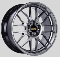 BBS RG-R 19x8.5 5x114.3 ET18 Diamond Black Wheels -82mm PFS/Clip Required