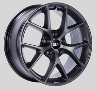 BBS SR 18x8 5x100 ET48 Satin Grey Wheels -70mm PFS/Clip Required