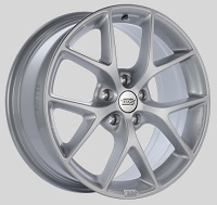 BBS SR 17x7.5 5x114.3 ET42 Sport Silver Wheels -82mm PFS/Clip Required