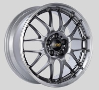 BBS RS-GT 19x8.5 5x114.3 ET30 Diamond Black Center Diamond Cut Lip Wheels -82mm PFS/Clip Required